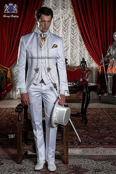 Traje de novio barroco blanco modelo 1287 Ottavio Nuccio Gala colección Barroco