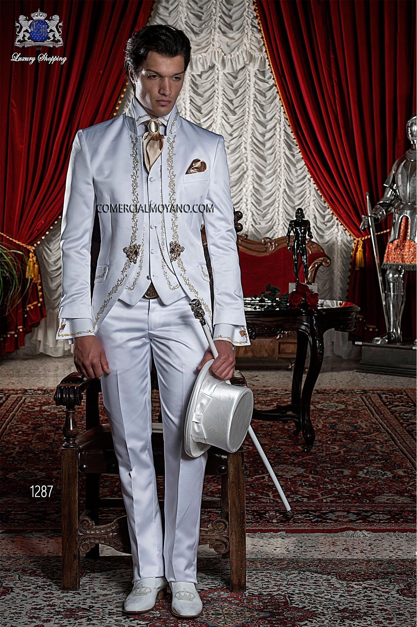 Italienisch maßgeschneiderte weißen Hochzeitsanzug Stil 1287 ON Gala.