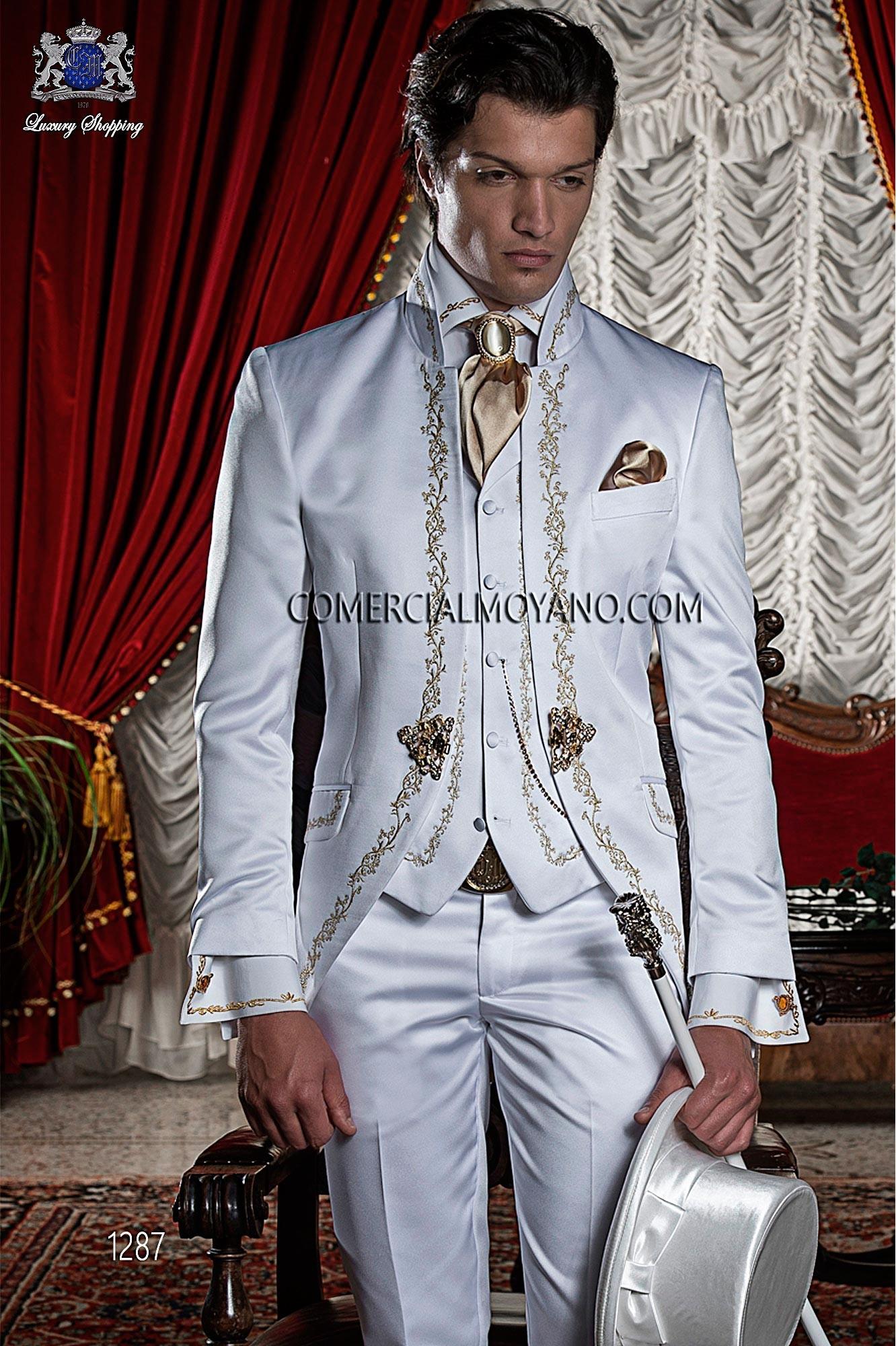 Traje barroco de novio blanco modelo: 1287 Ottavio Nuccio Gala colección 2017 Barroco