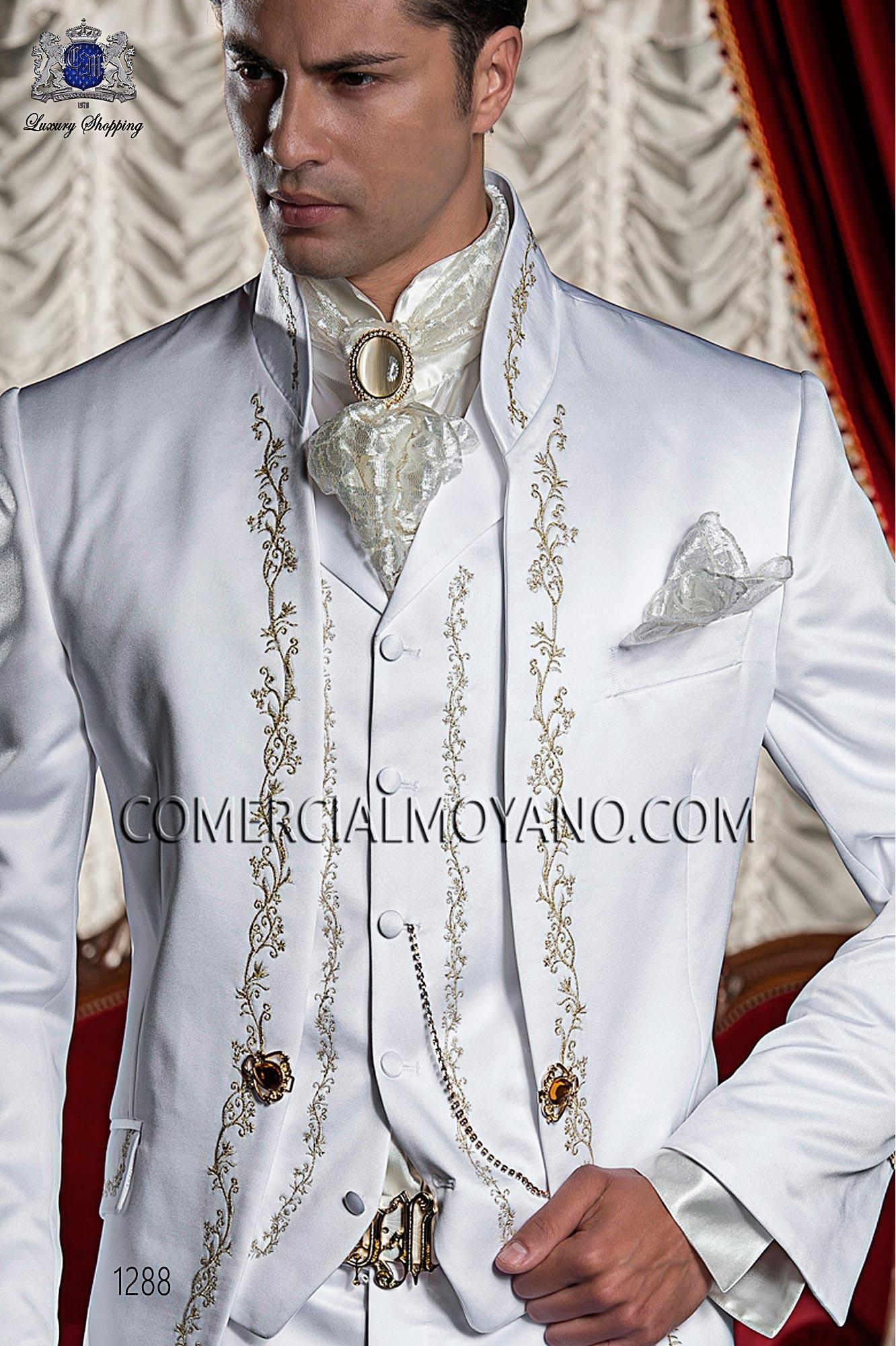 Traje barroco de novio blanco modelo: 1288 Ottavio Nuccio Gala colección Barroco