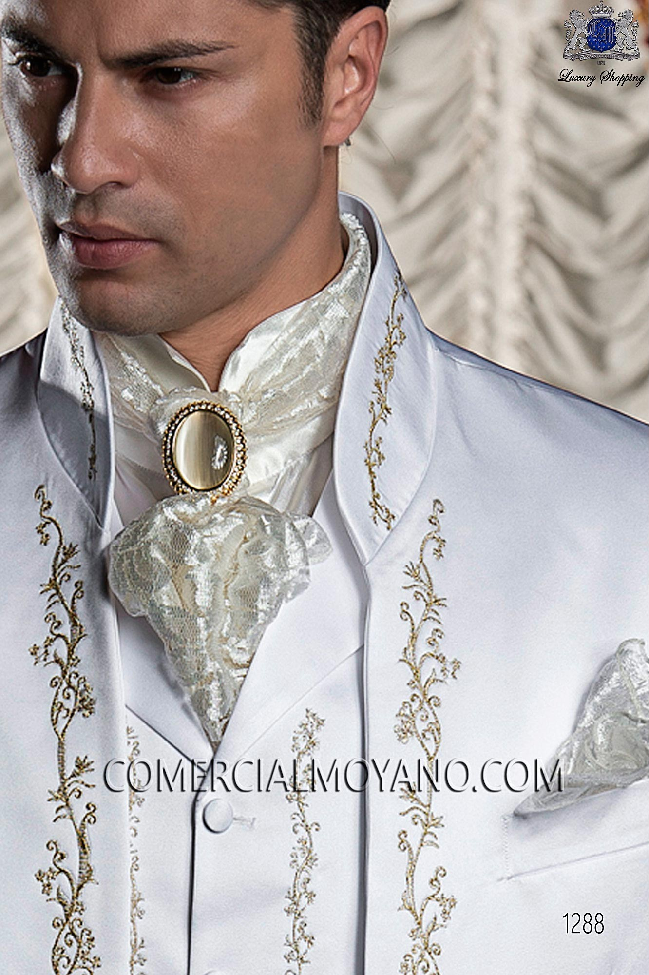 Baroque white men wedding suit, model: 1288 Ottavio Nuccio Gala ...