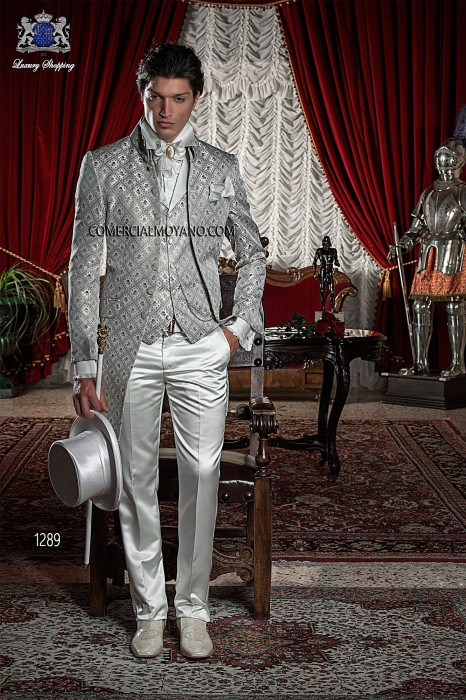 Baroque Italian gold/gray wedding suit