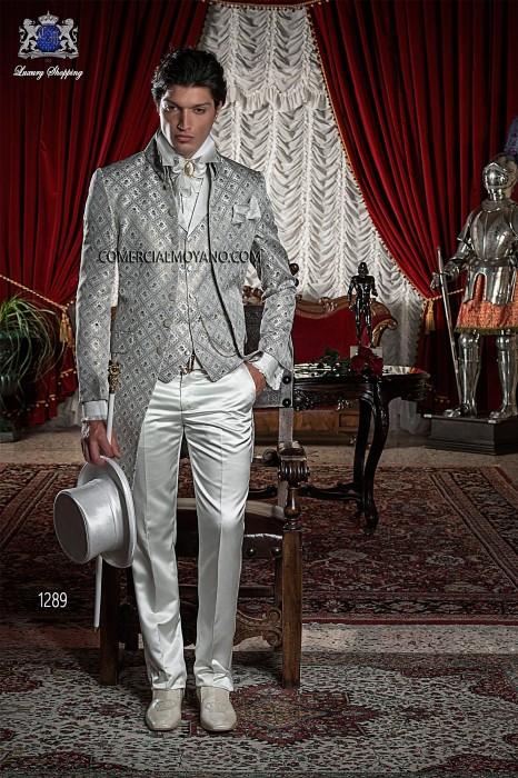 Baroque Italian gold/gray wedding suit