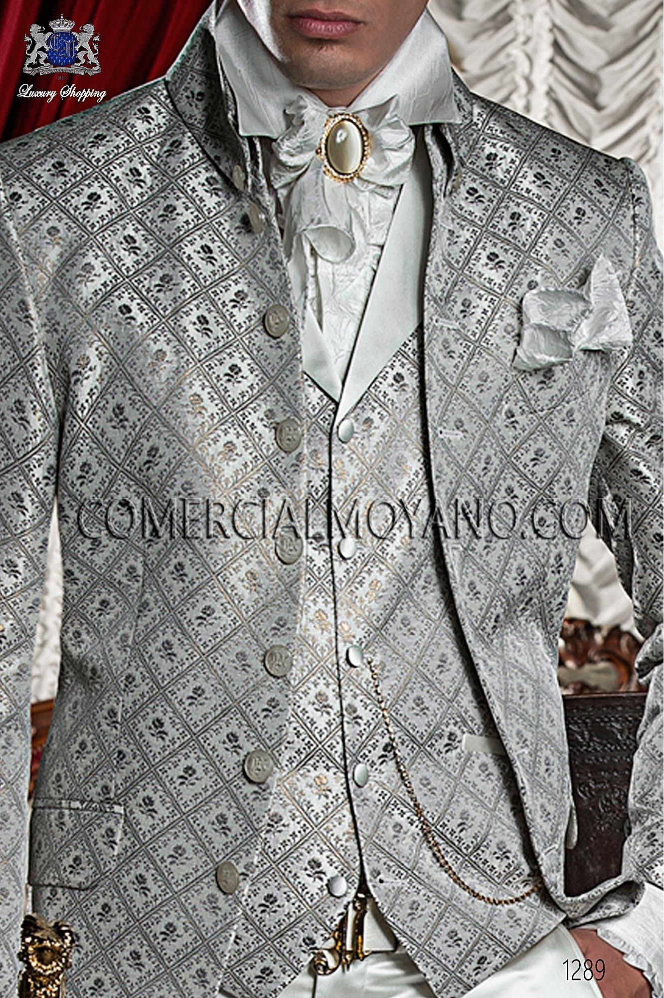 Traje barroco de novio gris-oro modelo: 1289 Ottavio Nuccio Gala colección Barroco