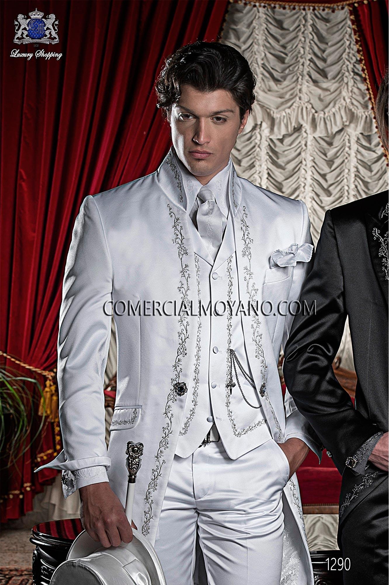 Italian bespoke white wedding suit style 1290 Ottavio Nuccio Gala.