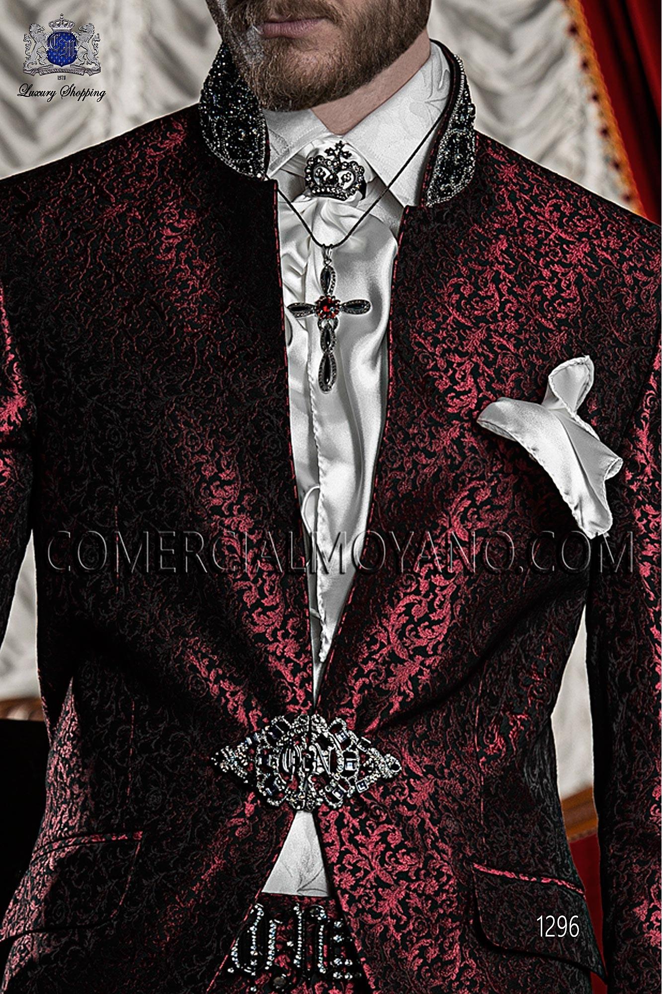 Traje barroco de novio rojo-negro modelo: 1296 Ottavio Nuccio Gala colección Barroco