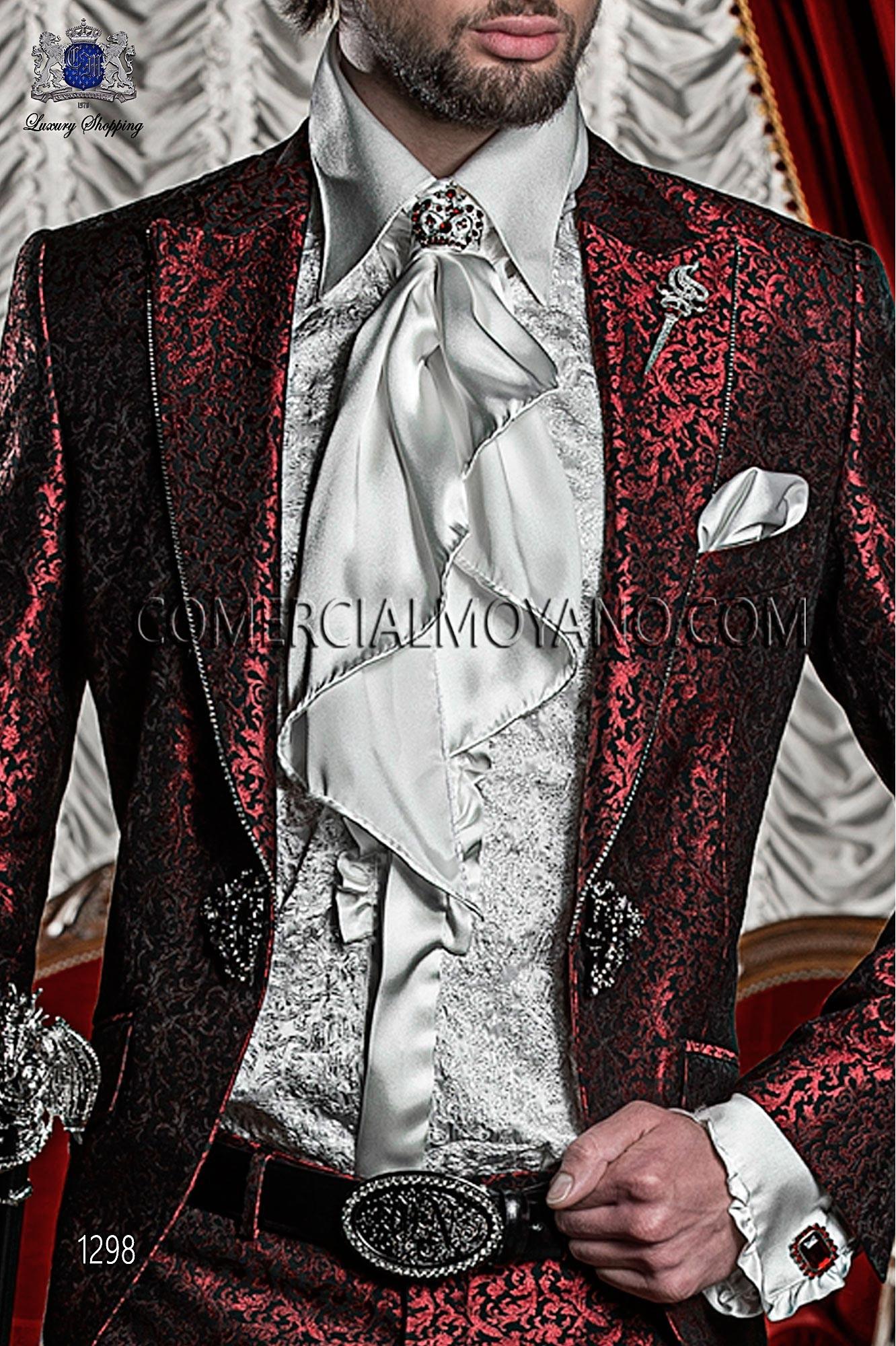 Traje barroco de novio rojo modelo: 1298 Ottavio Nuccio Gala colección Barroco