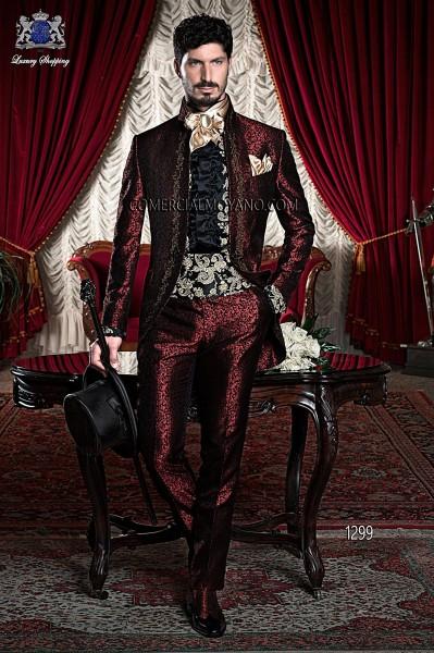 Traje de novio barroco rojo modelo 1299 Ottavio Nuccio Gala colección Barroco