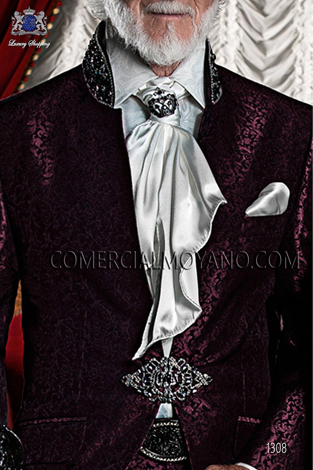 Traje barroco de novio burdeos-negro modelo: 1308 Ottavio Nuccio Gala colección Barroco
