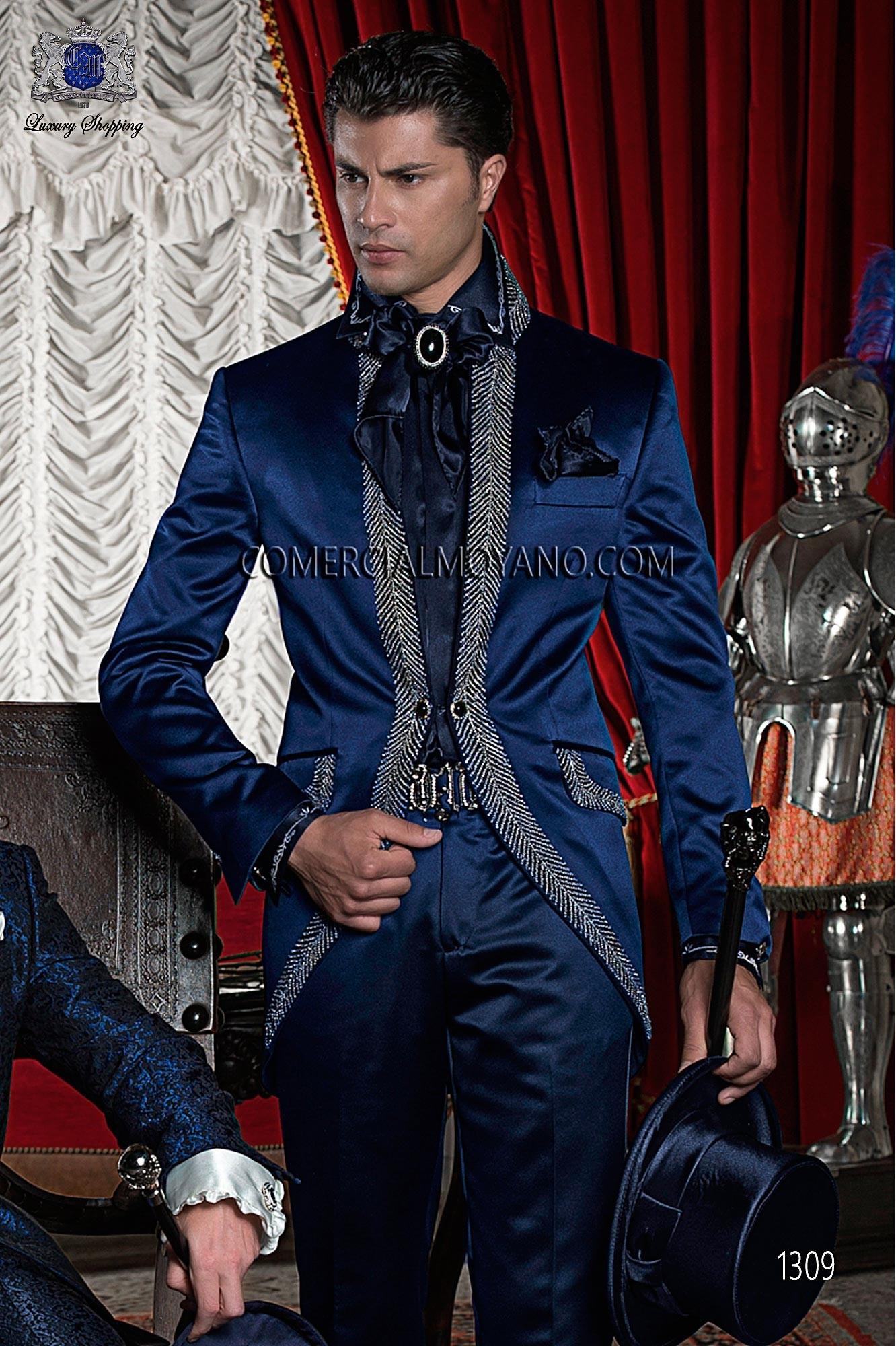 Traje de novio barroco azul modelo: 1309 Ottavio Nuccio Gala colección Barroco