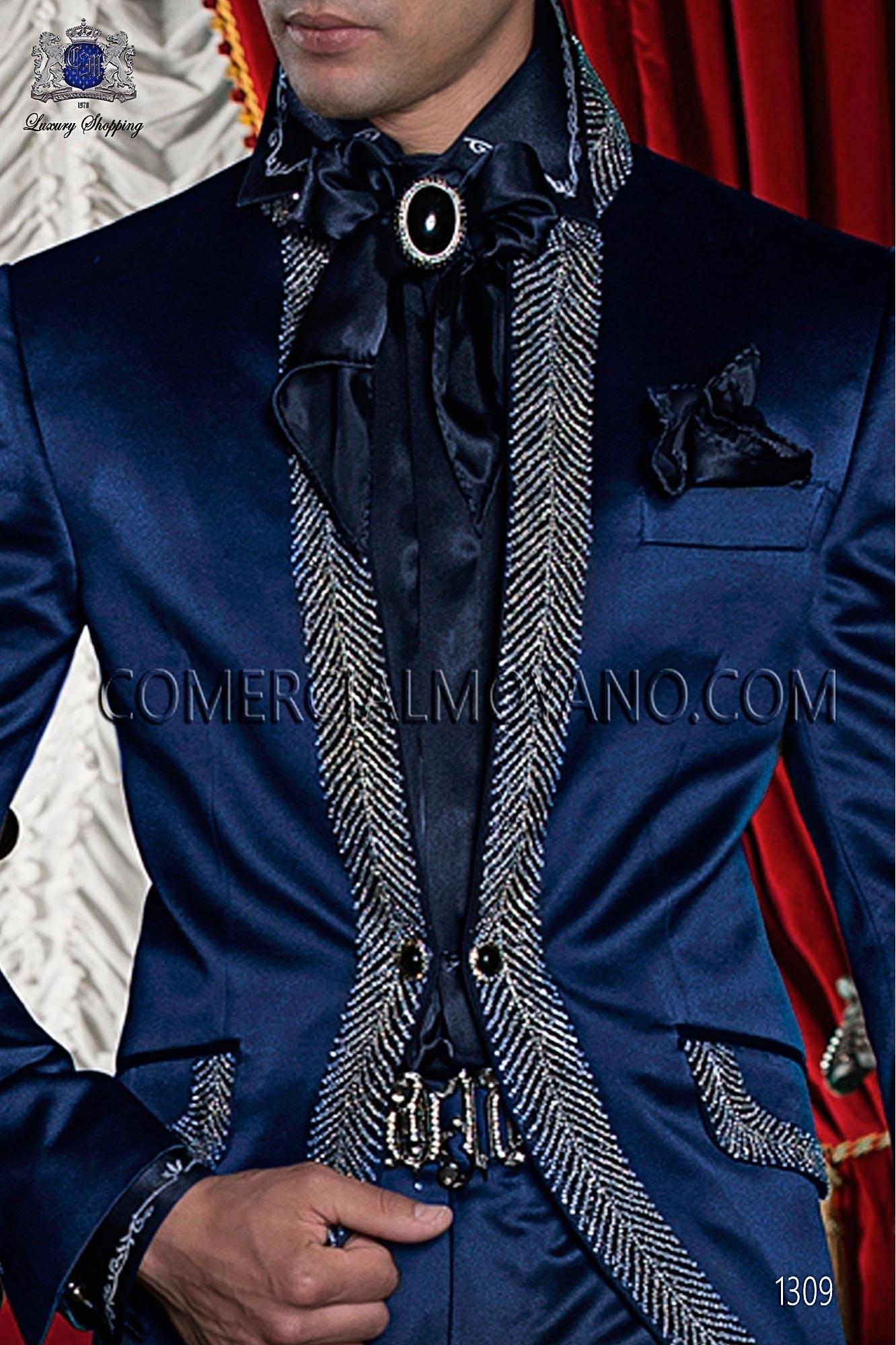 Traje barroco de novio azul modelo: 1309 Ottavio Nuccio Gala colección Barroco