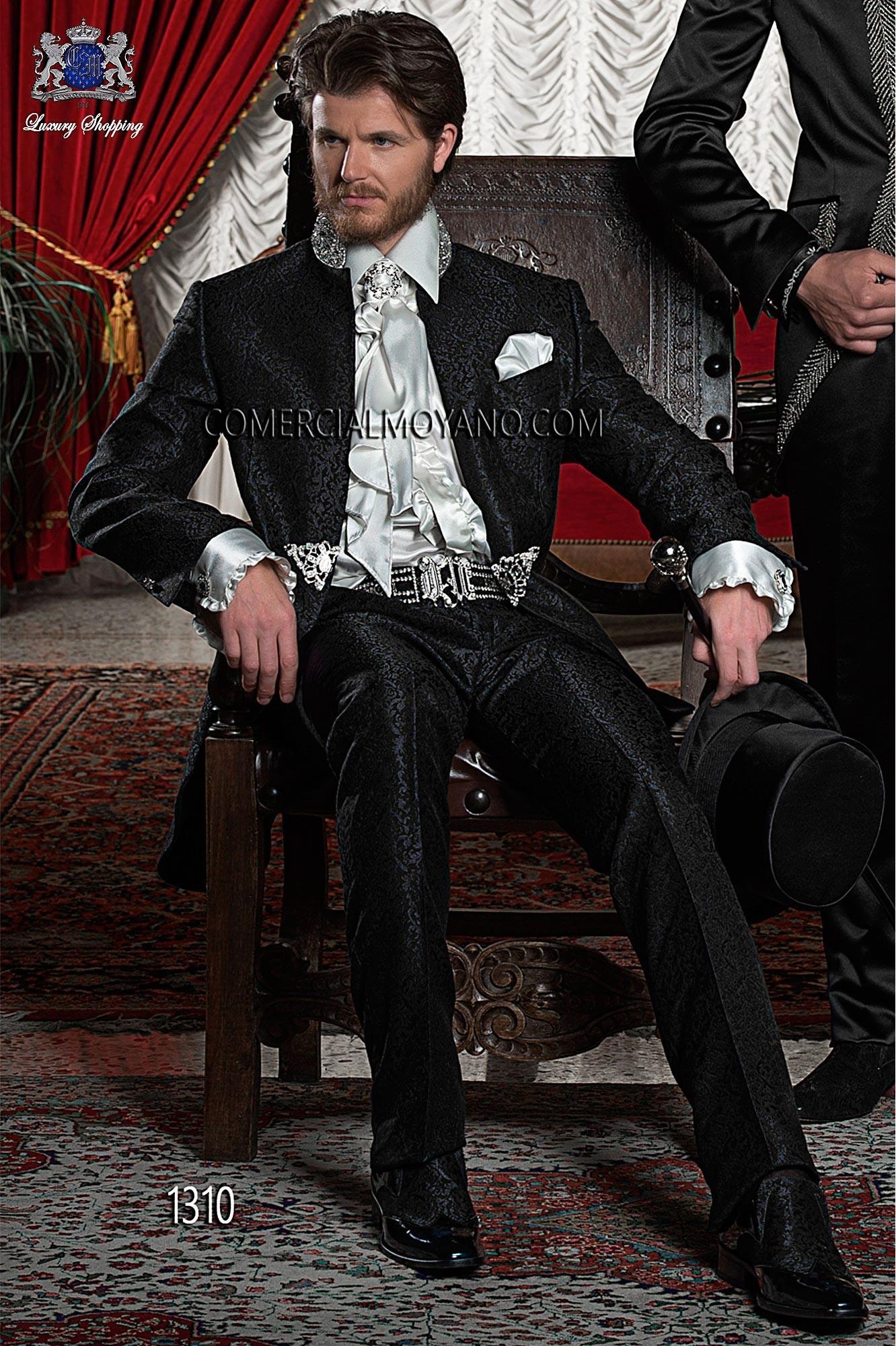 Traje de novio barroco negro modelo: 1310 Ottavio Nuccio Gala colección Barroco