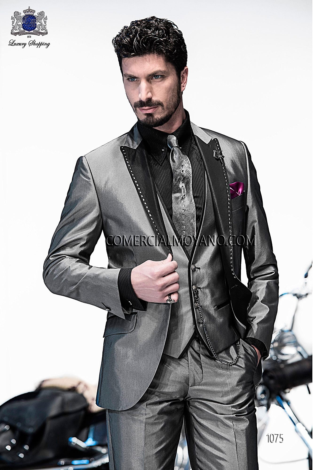 Emotion gray men wedding suit model 1075 Ottavio Nuccio Gala