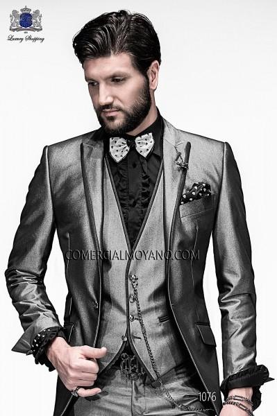 Italian emotion gray men wedding suit style 1076 Ottavio Nuccio Gala