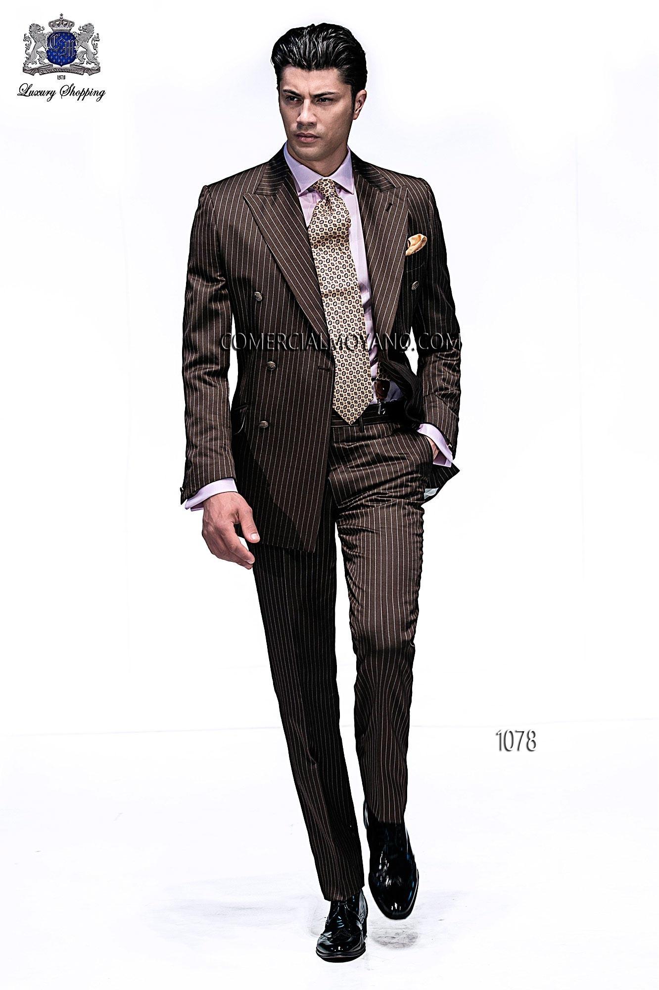 Traje de moda hombre marrón modelo: 1078 Ottavio Nuccio Gala colección Emotion