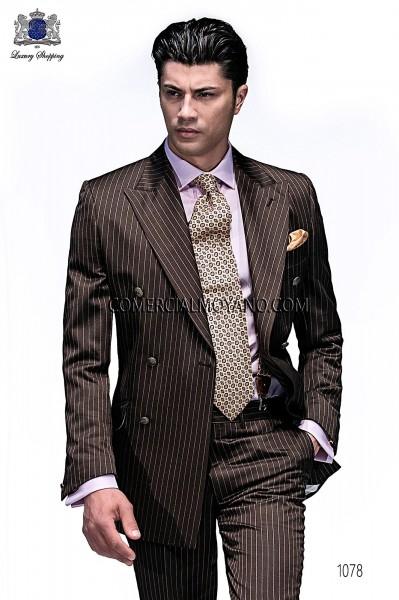 Traje de novio moderno marrón modelo 1078 colección Emotion Ottavio Nuccio Gala
