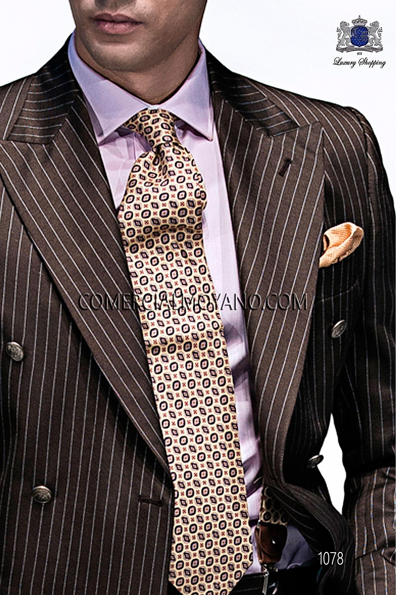 Italian emotion brown men wedding suit, model: 1078 Ottavio Nuccio Gala Emotion Collection