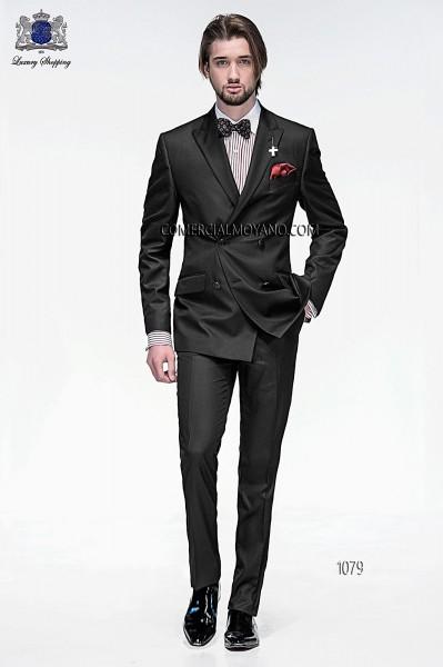 Traje de moda italiano negro 1079 Ottavio Nuccio Gala