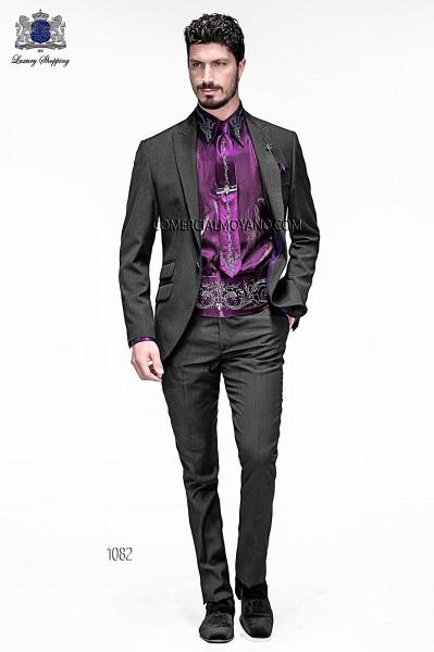 Italian emotion dark gray men wedding suit style 1082 Ottavio Nuccio Gala