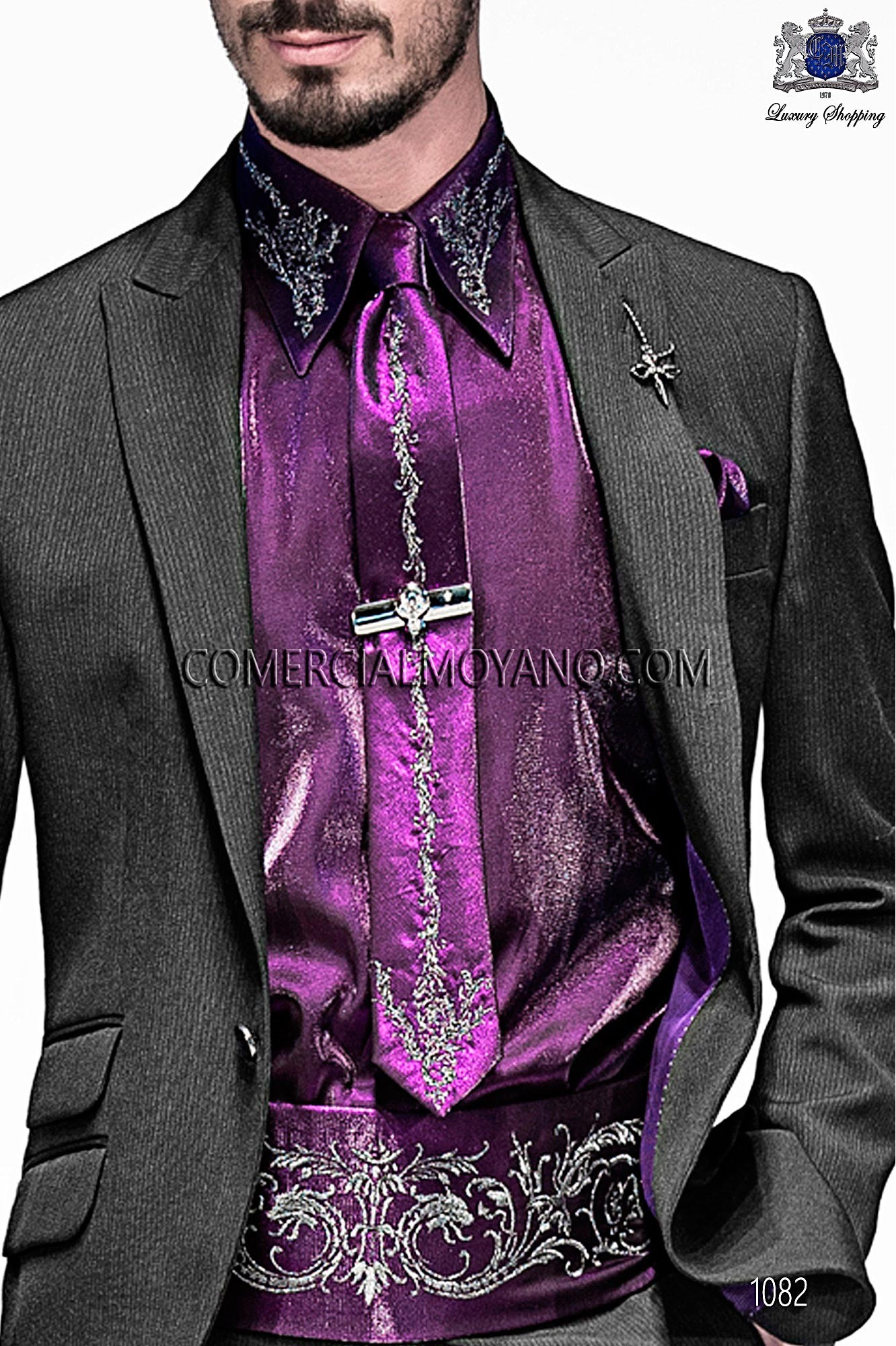 High Fashion Emotion black men wedding suit, model: 1082 Ottavio ...