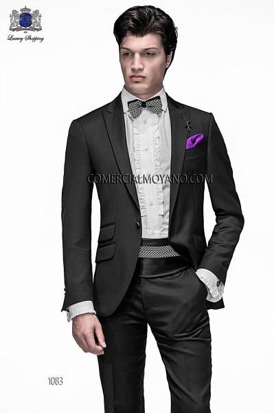 Traje de moda italiano negro 1083 Ottavio Nuccio Gala