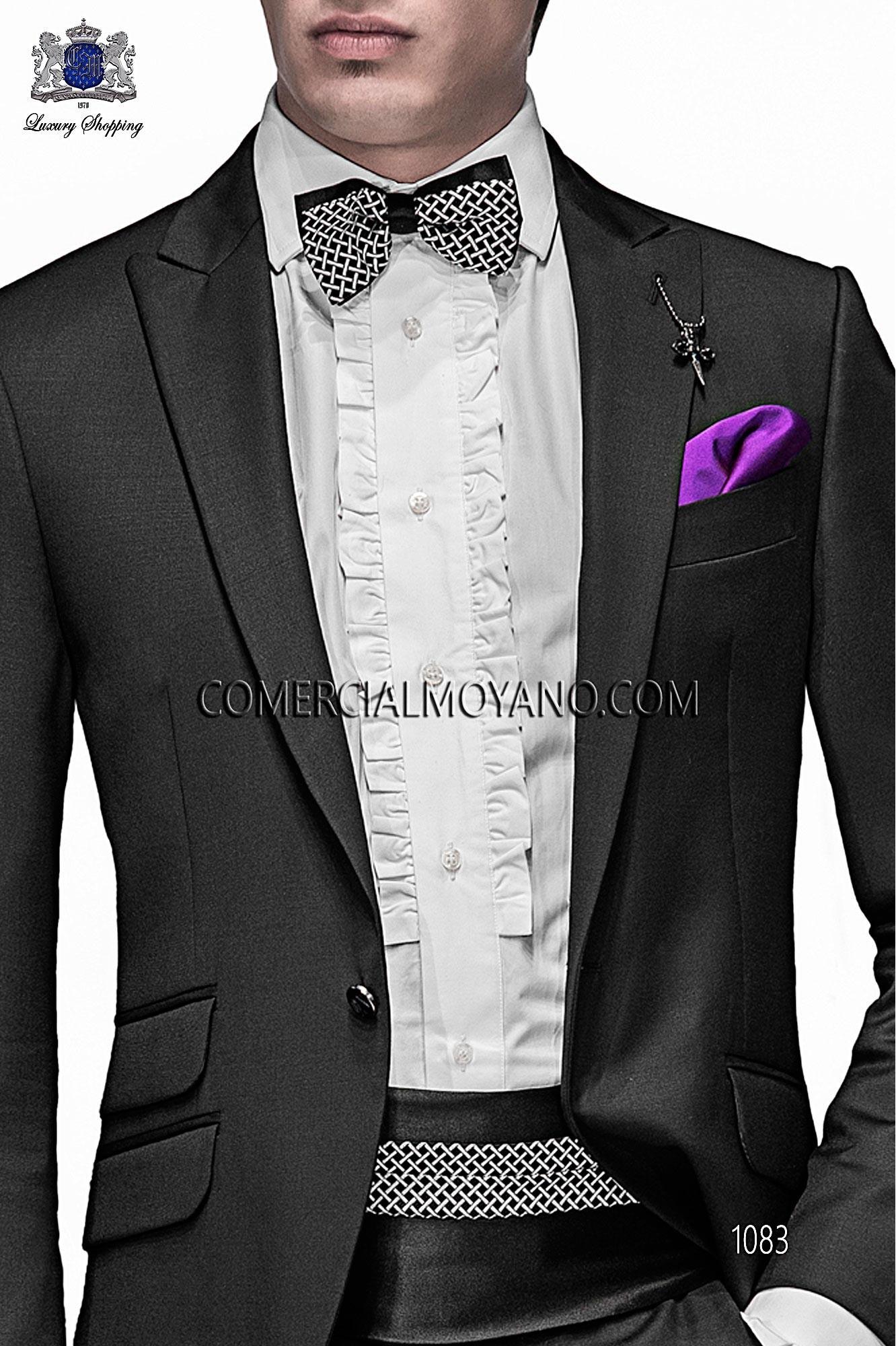 Italian emotion black men wedding suit, model: 1083 Ottavio Nuccio Gala Emotion Collection