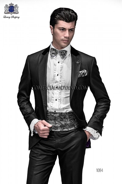 Italian emotion black men wedding suit style 1084 Ottavio Nuccio Gala