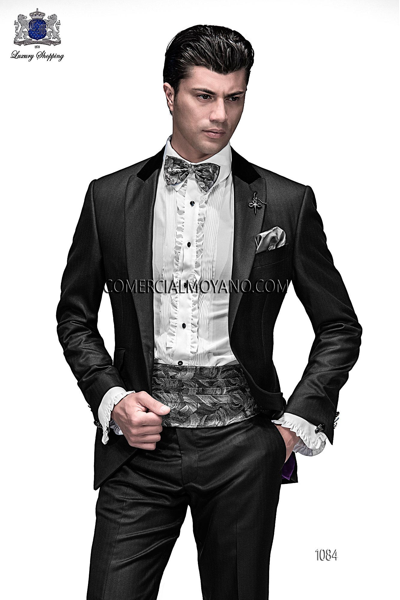 Emotion black men wedding suit model 1084 Ottavio Nuccio Gala