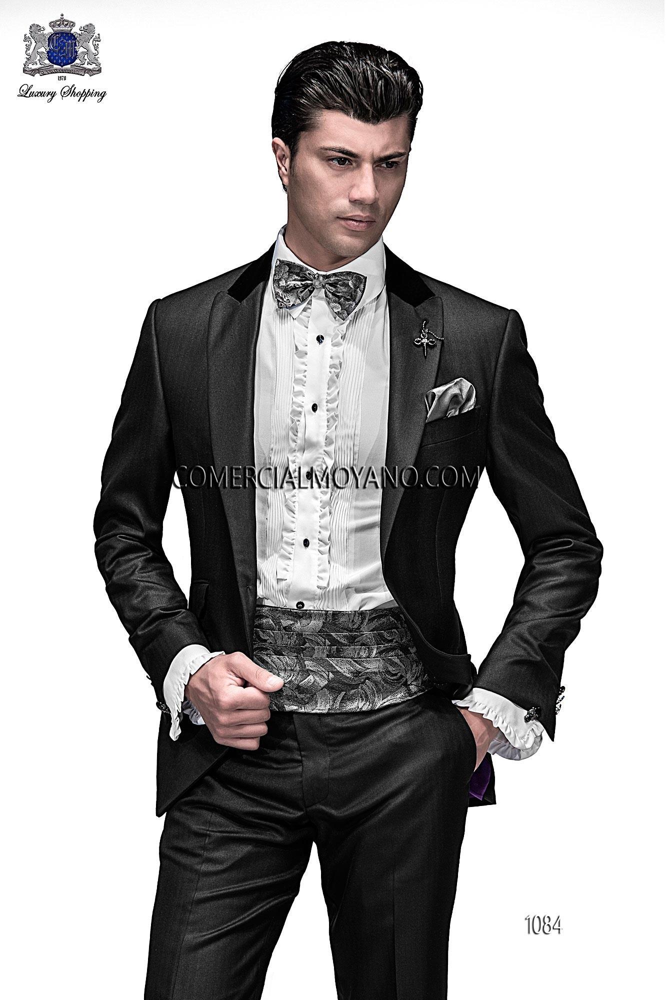 Traje de moda hombre negro modelo: 1084 Ottavio Nuccio Gala colección Emotion