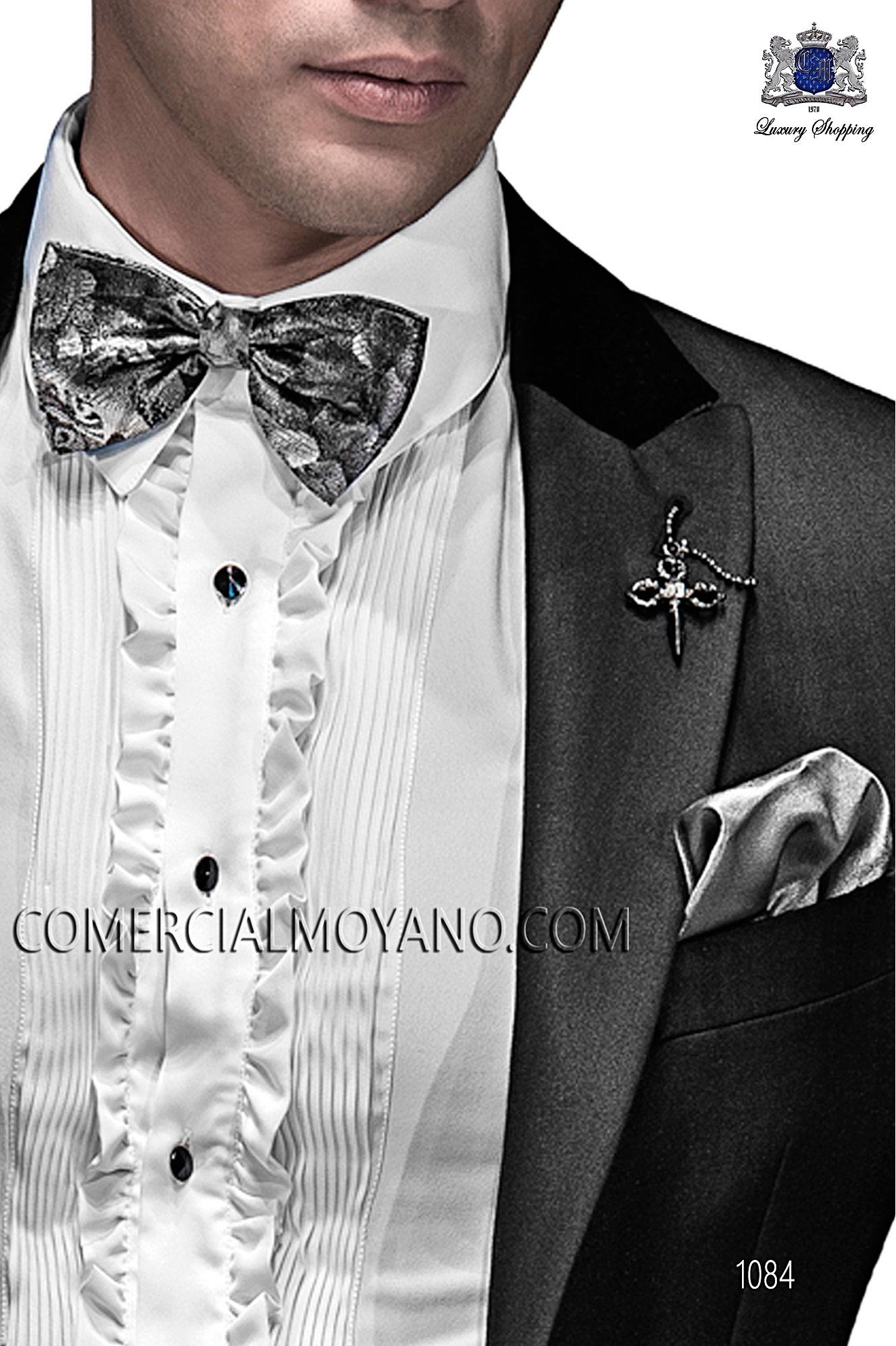 Italian emotion black men wedding suit, model: 1084 Ottavio Nuccio Gala Emotion Collection