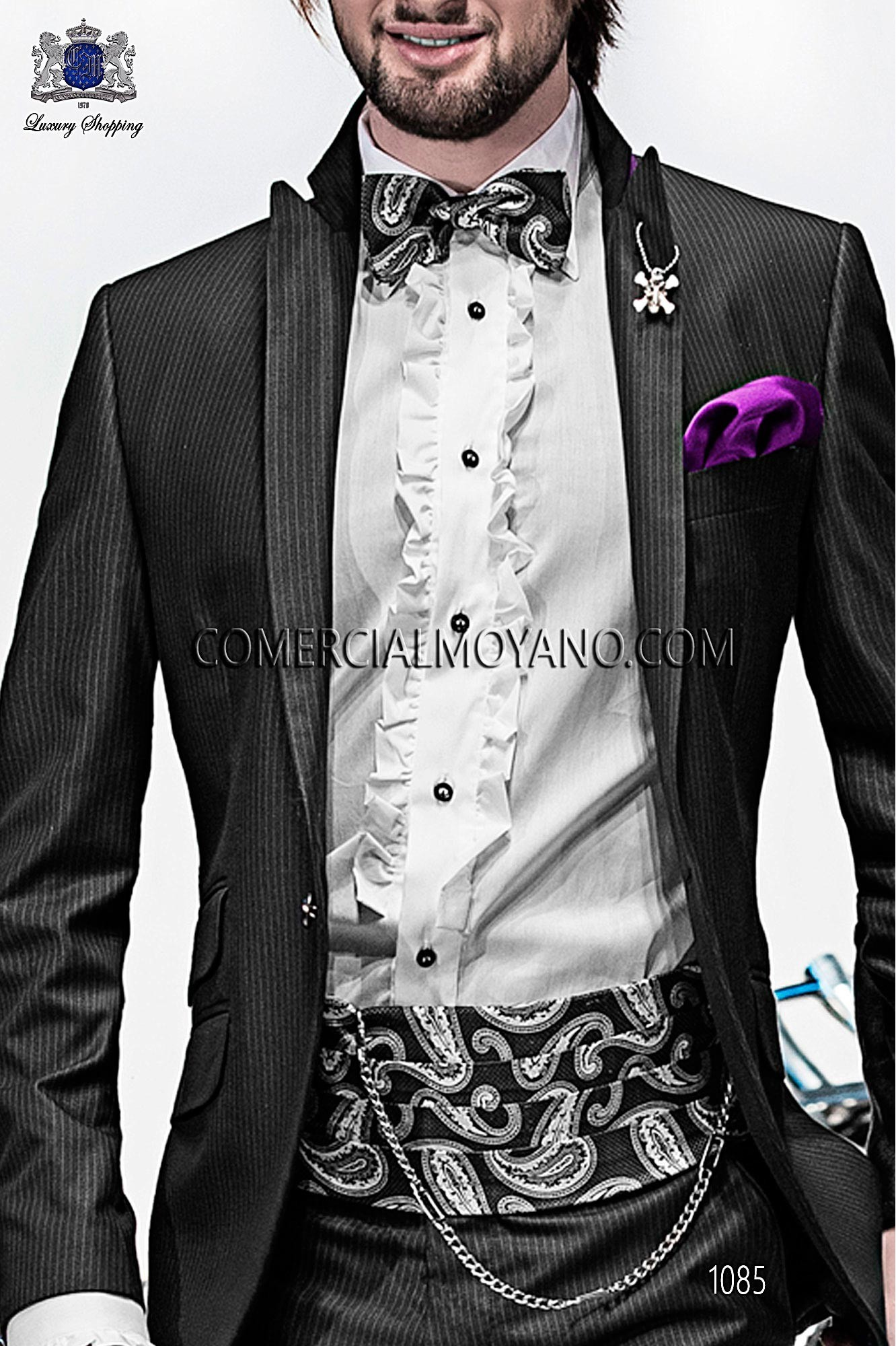 High Fashion Emotion black men wedding suit, model: 1085 Ottavio ...
