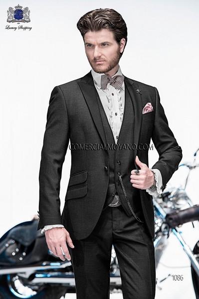 Traje de moda italiano con chaleco negro 1086 Ottavio Nuccio Gala