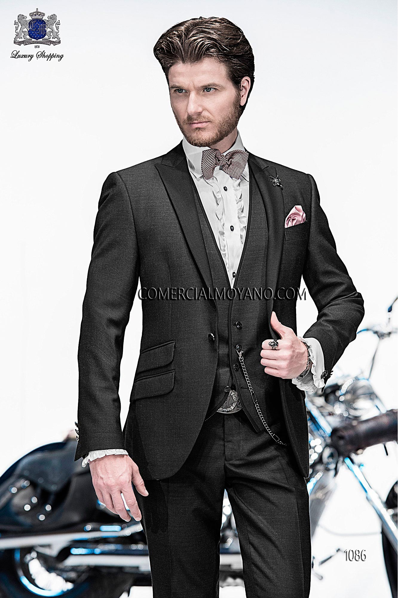 Emotion black men wedding suit model 1086 Ottavio Nuccio Gala