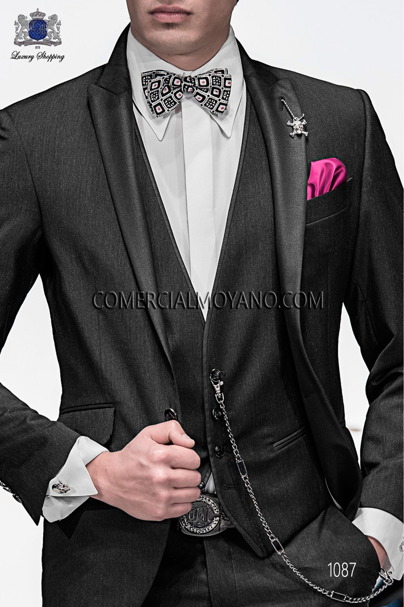 Italian emotion gray men wedding suit, model: 1087 Ottavio Nuccio Gala Emotion Collection