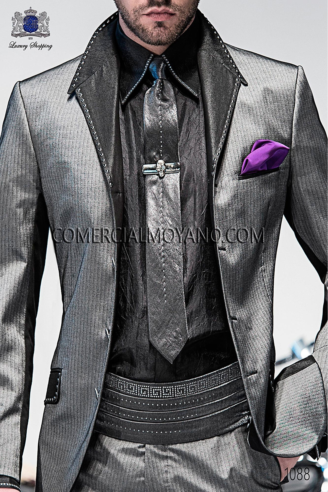 High Fashion Emotion steel gray men wedding suit, model: 1088 ...