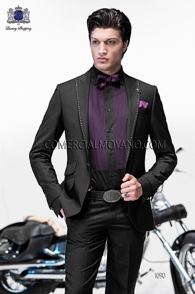 Italian emotion black men wedding suit style 1090 Ottavio Nuccio Gala