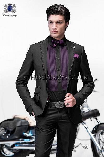 Traje de moda italiano negro 1090 Ottavio Nuccio Gala