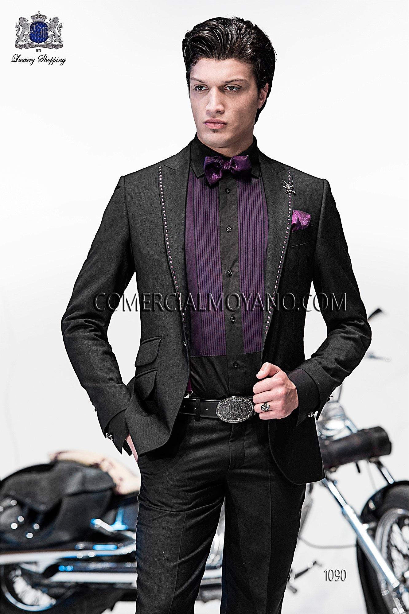 Emotion black men wedding suit model 1090 Ottavio Nuccio Gala