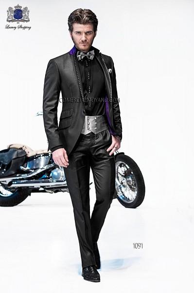 Traje de moda italiano negro 1091 Ottavio Nuccio Gala