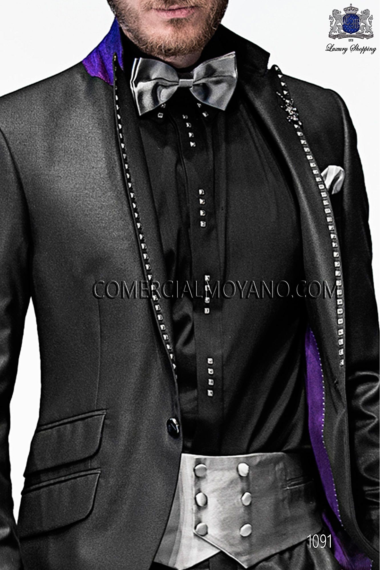 Italian emotion black men wedding suit, model: 1091 Ottavio Nuccio Gala Emotion Collection