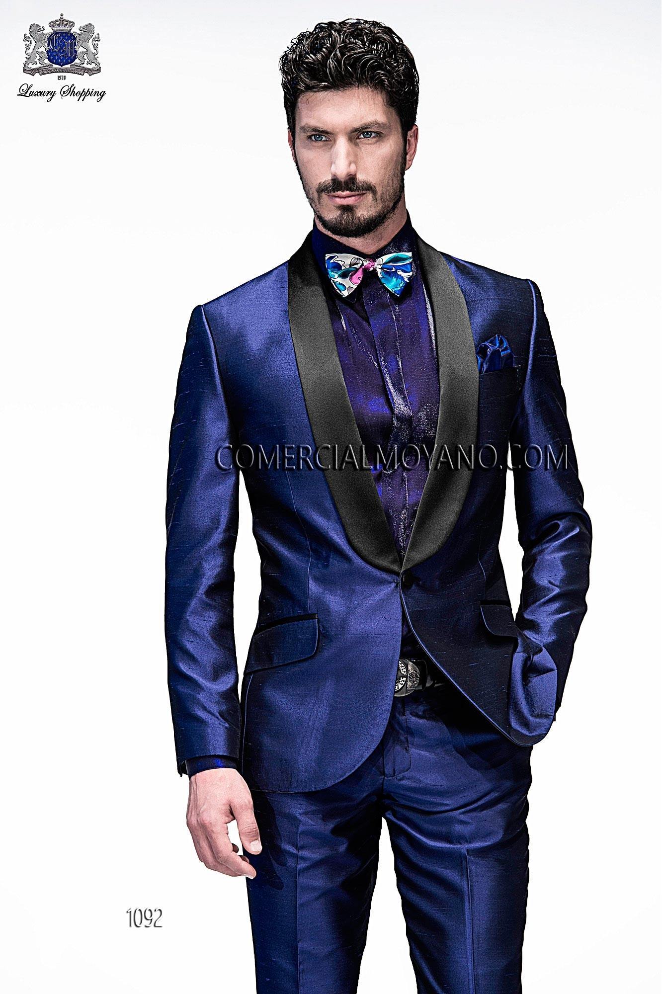 High Fashion Emotion blue men wedding suit, model: 1092 Ottavio ...