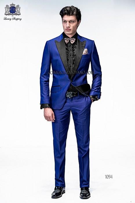 Italian blue fashion suit