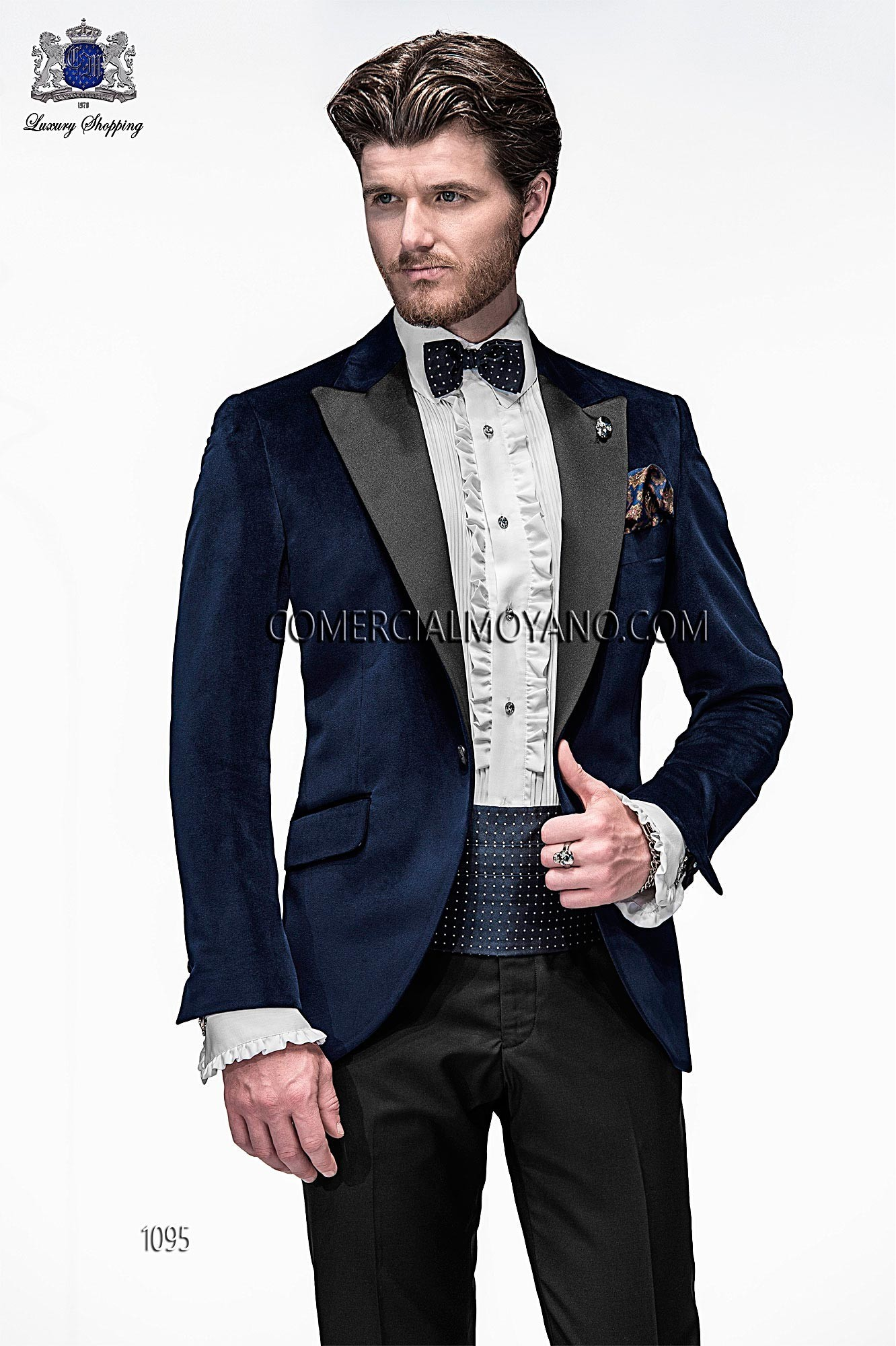 Emotion blue men wedding suit model 1095 Ottavio Nuccio Gala