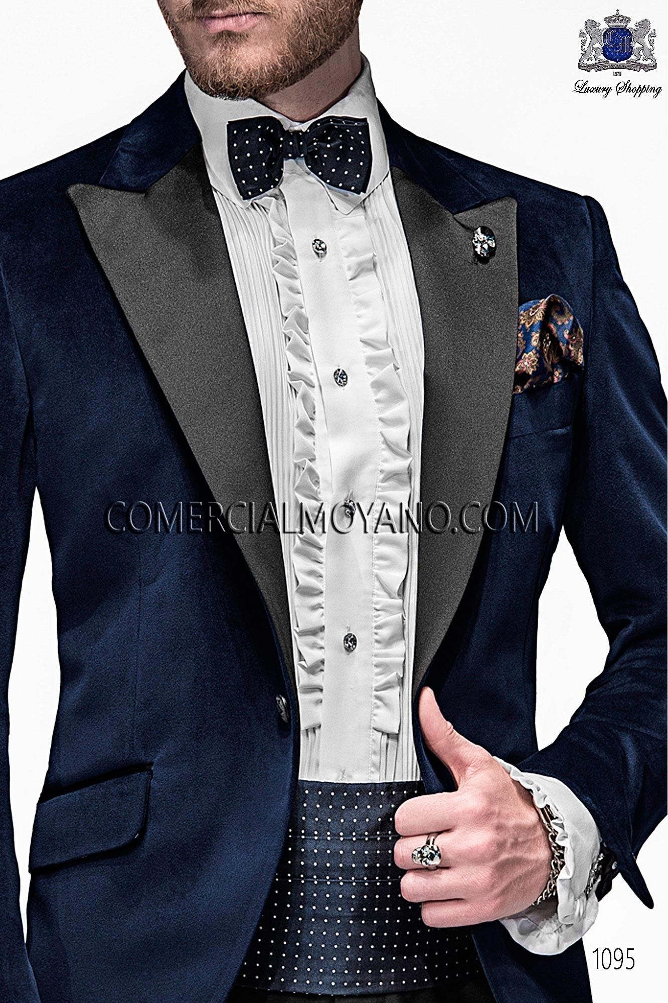 Italian emotion blue men wedding suit, model: 1095 Ottavio Nuccio Gala 2017 Emotion Collection