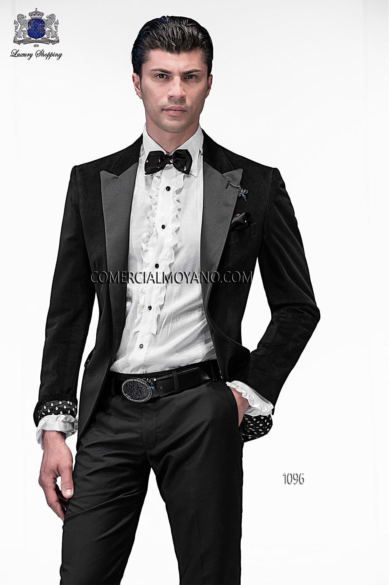 italienisch ma geschneiderten schwarzen anzug mode stil 1096 on gala. Black Bedroom Furniture Sets. Home Design Ideas