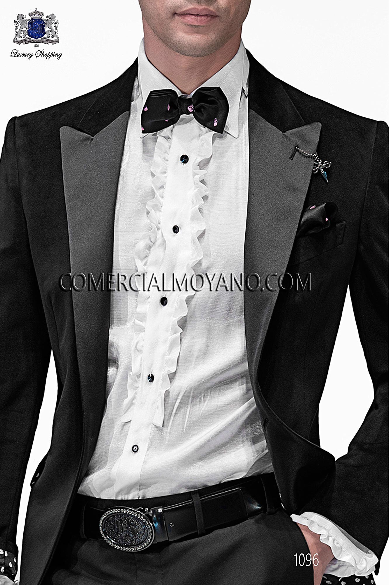 Italian emotion black men wedding suit, model: 1096 Ottavio Nuccio Gala Emotion Collection
