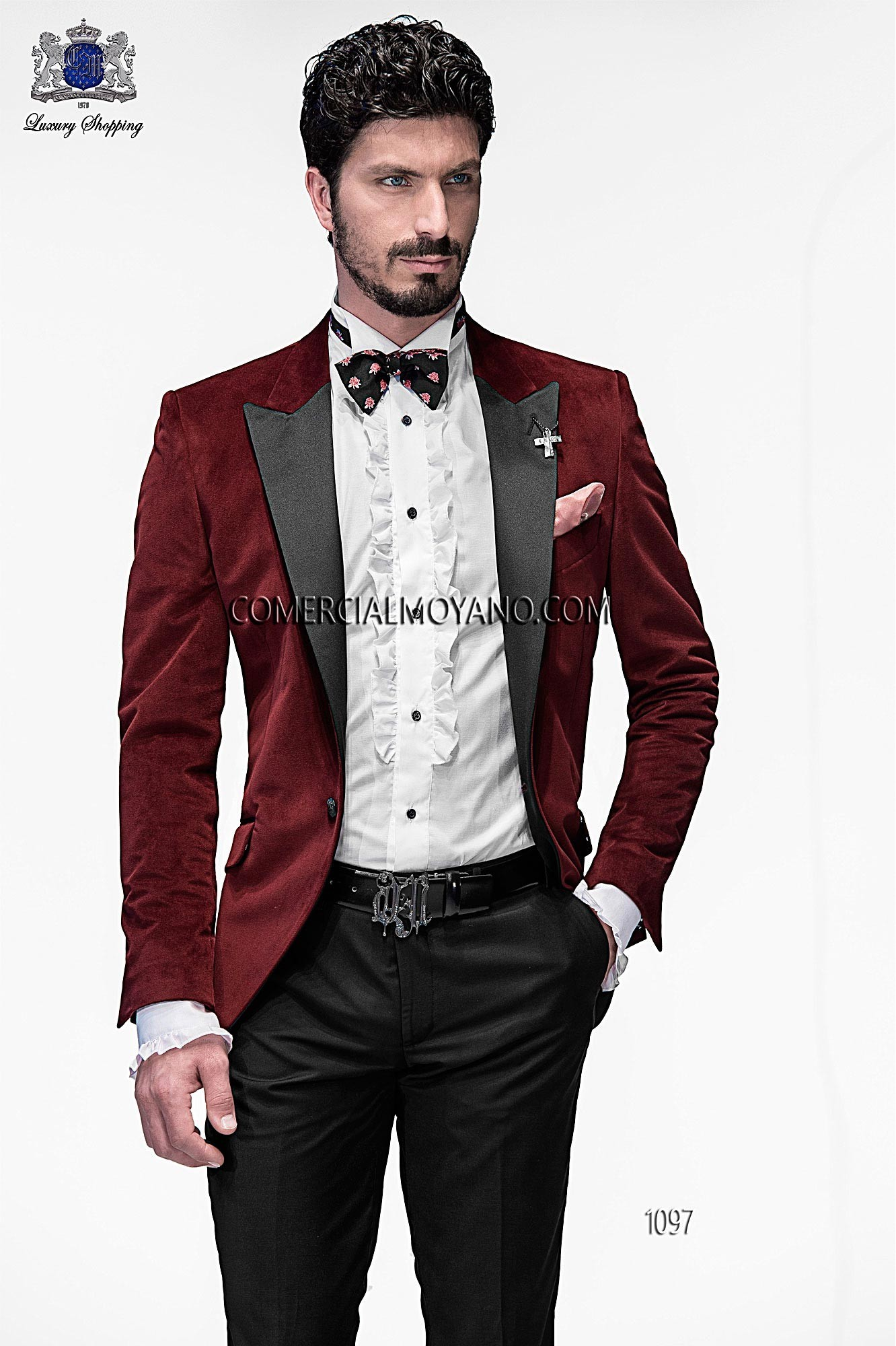 Emotion burgundy men wedding suit model 1097 Ottavio Nuccio Gala