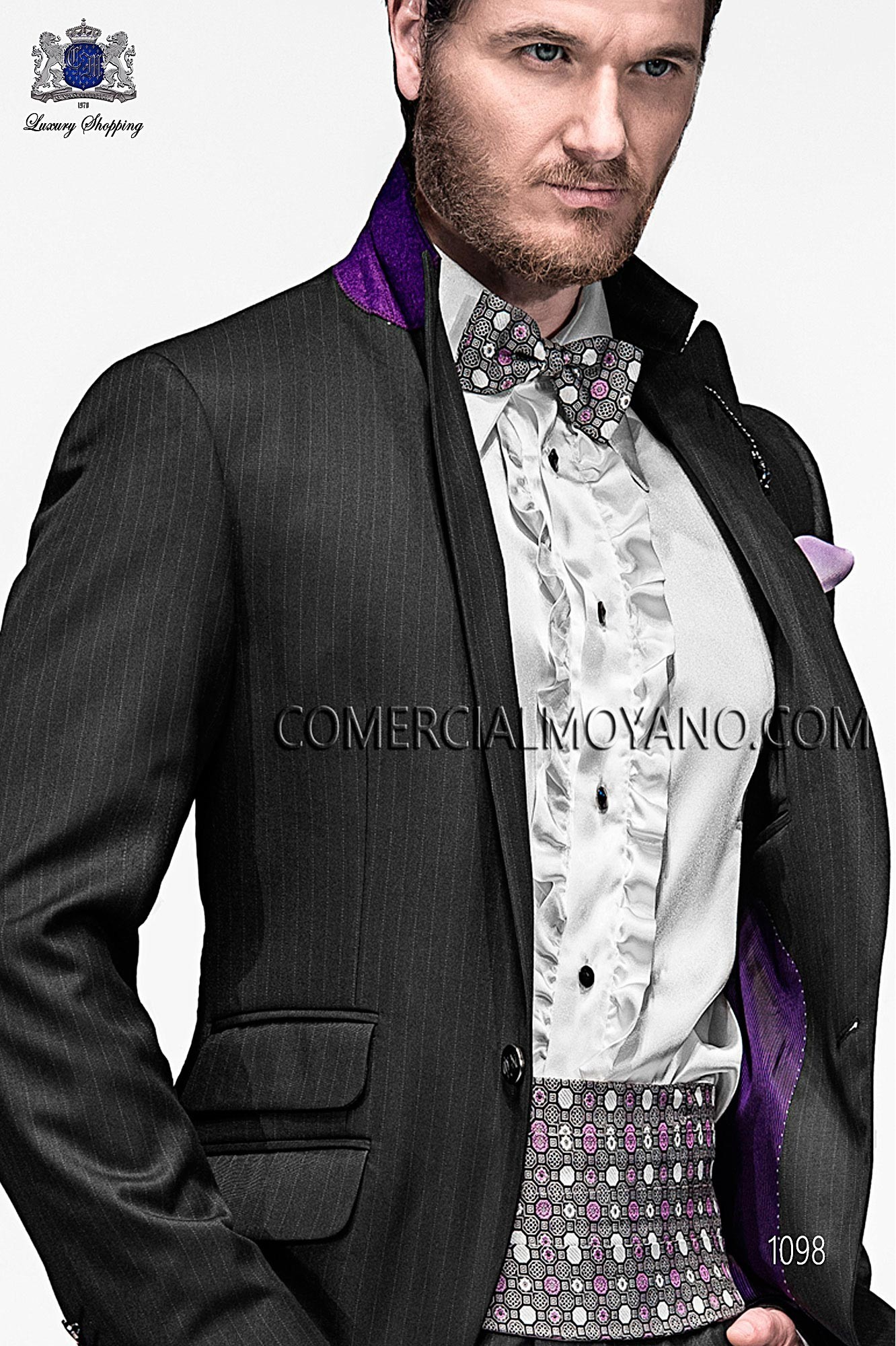 Italian Emotion Black Men Wedding Suit Model 1098 Ottavio Nuccio Gala Collection