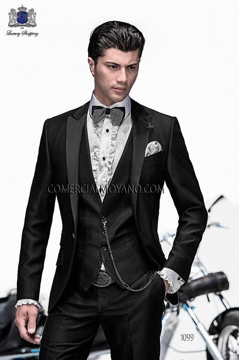 Traje de moda italiano con chaleco negro 1099 Ottavio Nuccio Gala
