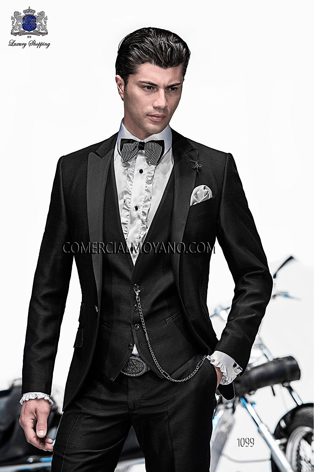 Emotion black men wedding suit model 1099 Ottavio Nuccio Gala